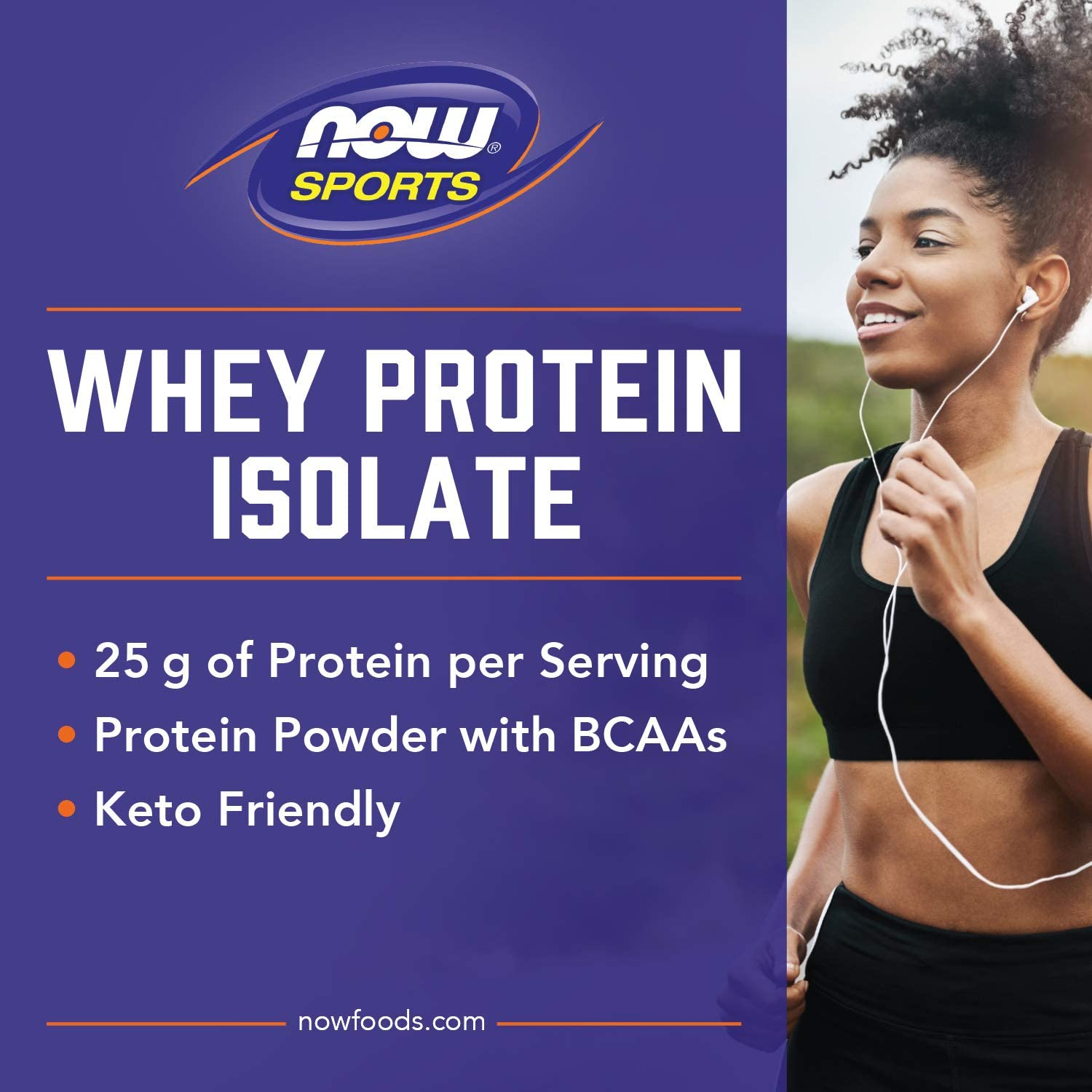 NOW Sports Nutrition, Whey Protein Isolate, 25 G With BCAAs, Unflavored Powder, 5-Pound: Health & Personal Care