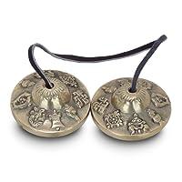 """Zap Impex ® Tingsha Tibetische Meditation Glocke 2.1 """"8 Glückssymbole Geprägte"""