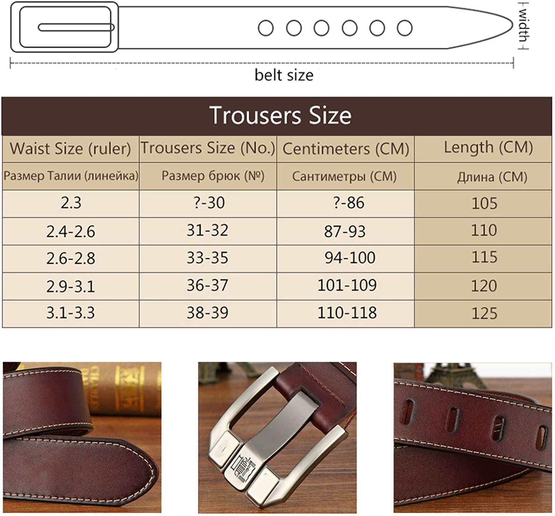 Mens Belts For Men Belt Genuine Leather Pin Buckle Strap Luxury Male Belts Man Belt Jeans