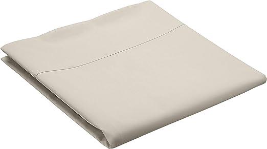 AmazonBasics Everyday - Sábana encimera (100% algodón), 275 x 275 cm - Marfil: Amazon.es: Hogar