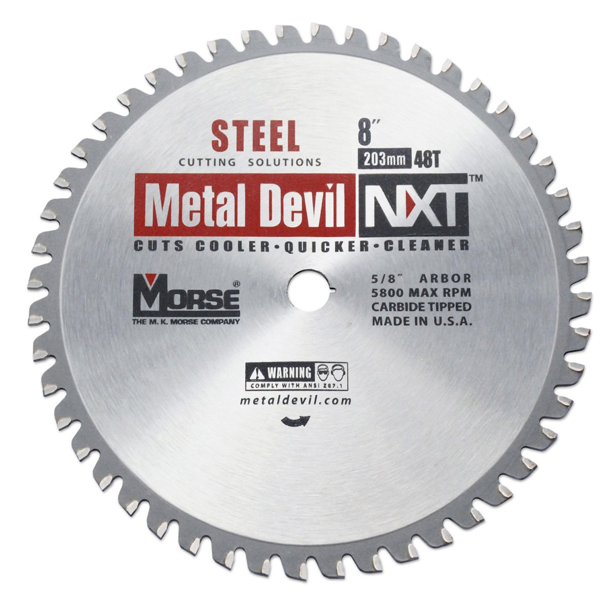 Mk morse csm848nsc metal devil nxt circular saw blade 8 inch mk morse csm848nsc metal devil nxt circular saw blade 8 inch diameter 48 teeth 58 inch arbor for steel cutting amazon keyboard keysfo Image collections