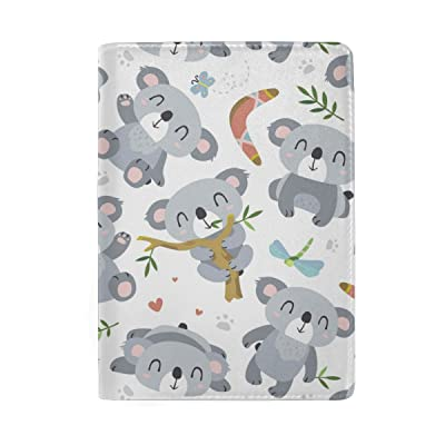 ALAZA Hipster Cartoon Style Koala Leather Passport Holder Cover Case Travel Wallet