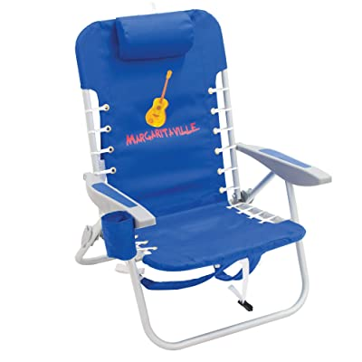 Margaritaville 4-Position Backpack Folding Beach Chair - Pacific Blue: Sports & Outdoors