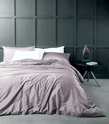 Solid Color Egyptian Cotton Duvet Cover Luxury Bedding Set High Thread  Count Long Staple Sateen Weave