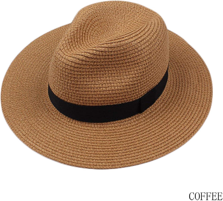 Fashion Summer Straw Mens Sun Hats Trilby Gangster Cap Summer Beach Cap Panama Hat Sombrero Travel Sunhat