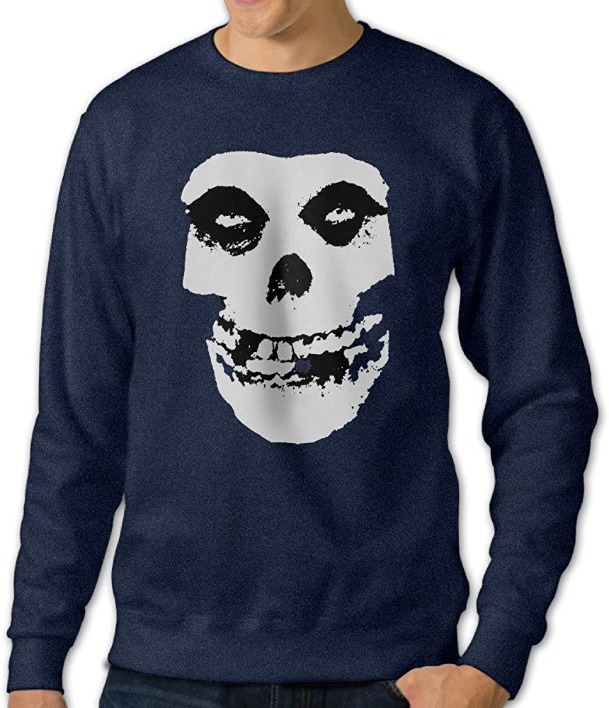 Alipapa Men's Long Sleeve Classic Skull Hoodie - Navy