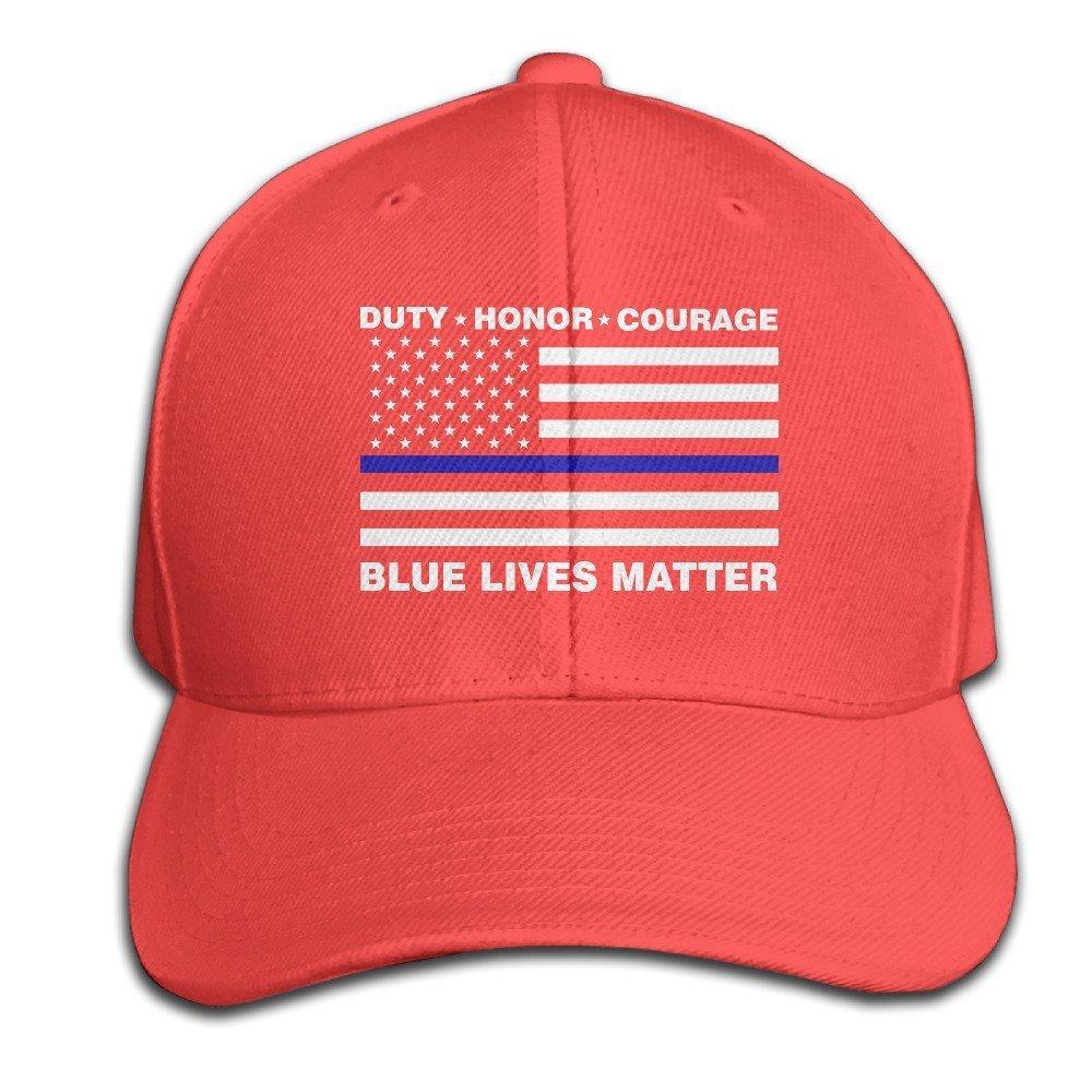 Amazon.com  Nak50 Cap Blue Lives Matter Police Blue Line Us Flag Red  Adjustable Baseball Hat for Unisex  Home   Kitchen 61e85ec485d