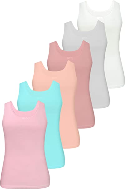 LOREZA ® 6 Piezas de Camisetas de algodón para niñas Ropa Interior ...
