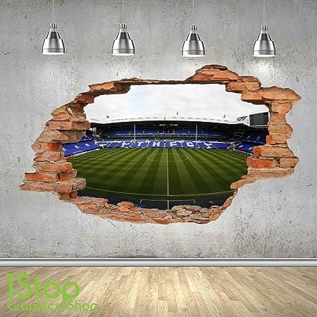 47f0e468 TOTTENHAM STADIUM WALL STICKER 3D LOOK - BOYS KIDS FOOTBALL BEDROOM ...
