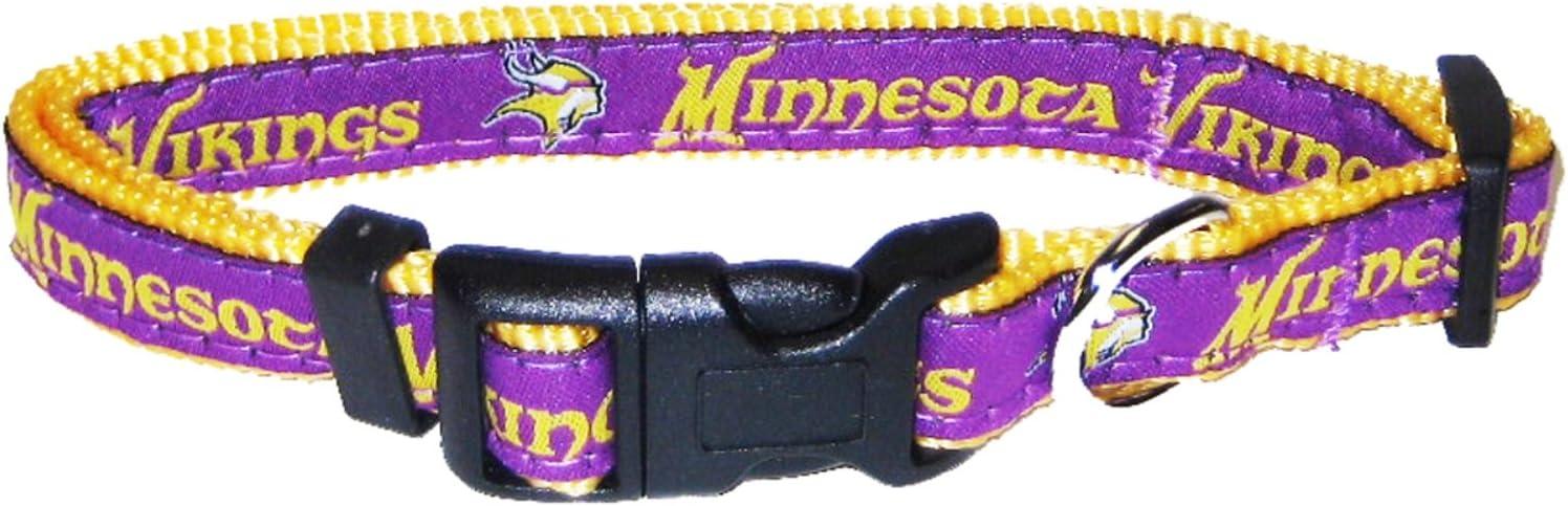 Littlearth NFL Minnesota Vikings Team Pet Ribbon Collar Small