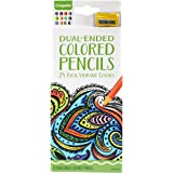 Crayola Aged Up Coloring 12ct Dual Side Adult Colored Pencils, 24 Rich Vibrant Colors