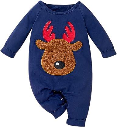 Baby Boys Girls Warm Hoodies Fleece Rompers Jumpsuit Hooded Bobysuit Christmas Pajamas Footed Sleeper with Zipper Pocket