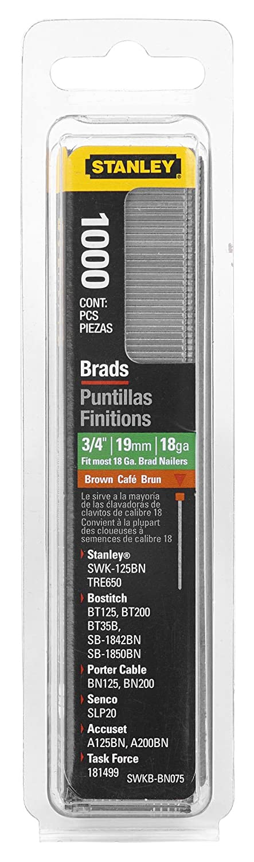 Stanley Swkbn075 3 4 Inch Brad Nails Pack of 1000 Pack of 1000