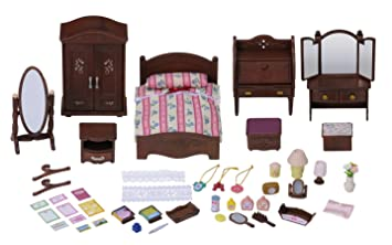 Sylvanian Families 4701 Luxury Master Bedroom Furniture Set Amazon