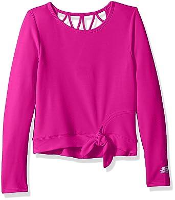 43ec69645779c2 Amazon.com  Skechers Girls  Big Long Sleeve Side Tie Top  Clothing