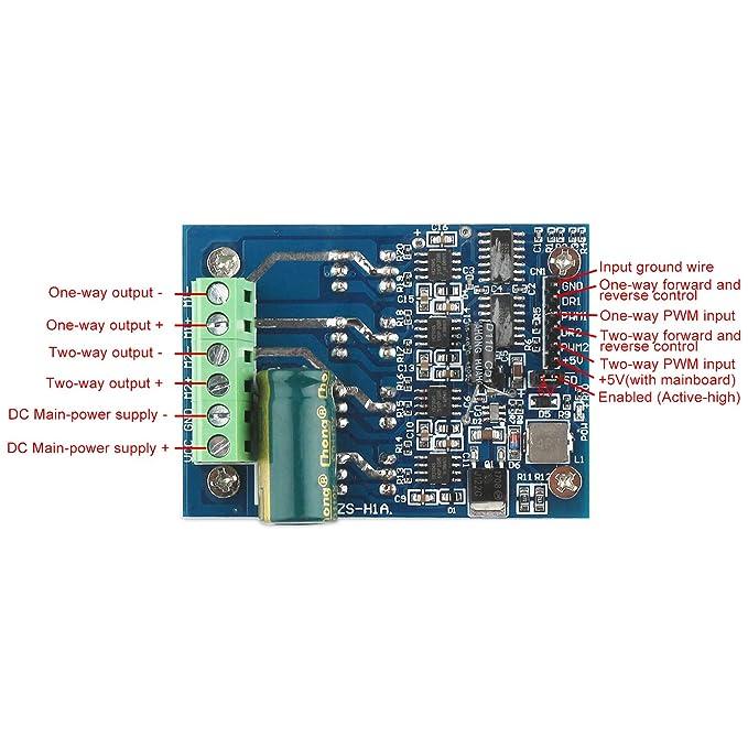 12V 24V 16A DC Motor Drive Module H Bridge PWM control signal Positive reversal