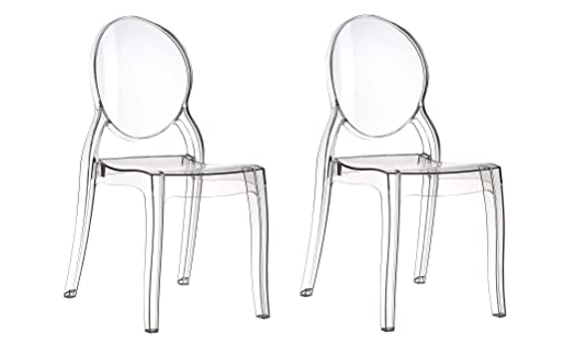 Plexiglass Acrylic Ghost Chair Transparent Clear Elizabeth. Picture In  Transparent Clear Set Of 4,