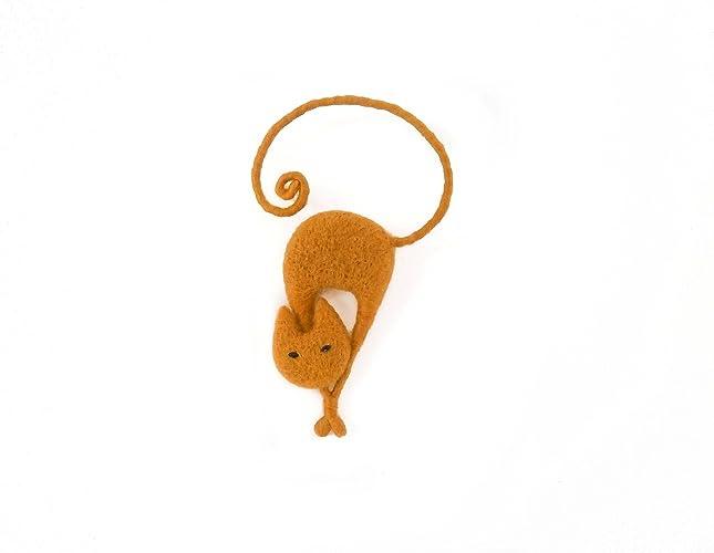 Toys & Hobbies Animals & Nature Felt cat figures Brooch