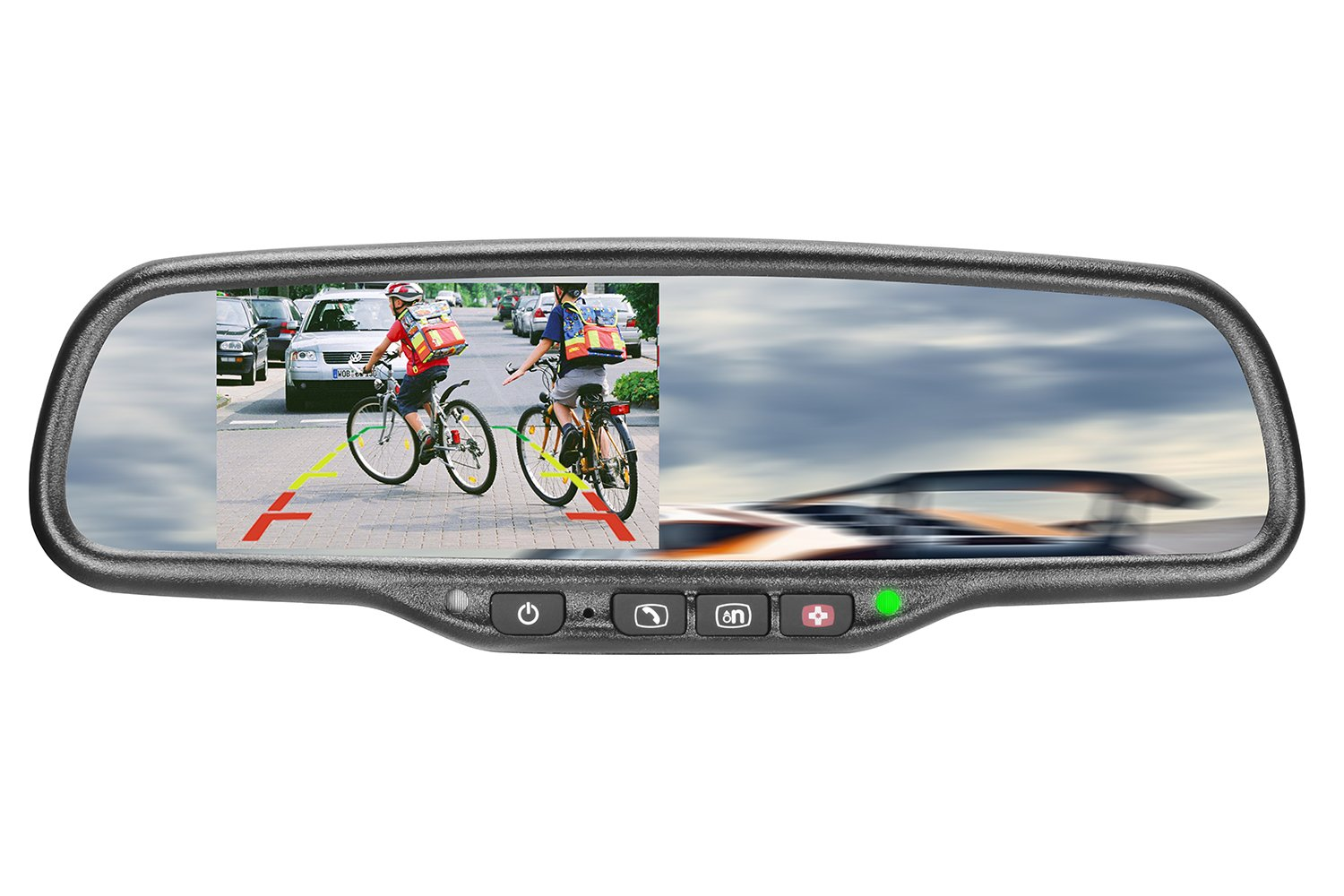 iMirror GHK-043LA-ON Car Rearview Mirror with 4.3'' LCD Display Mirror Monitor Specially Designed for GM On-star