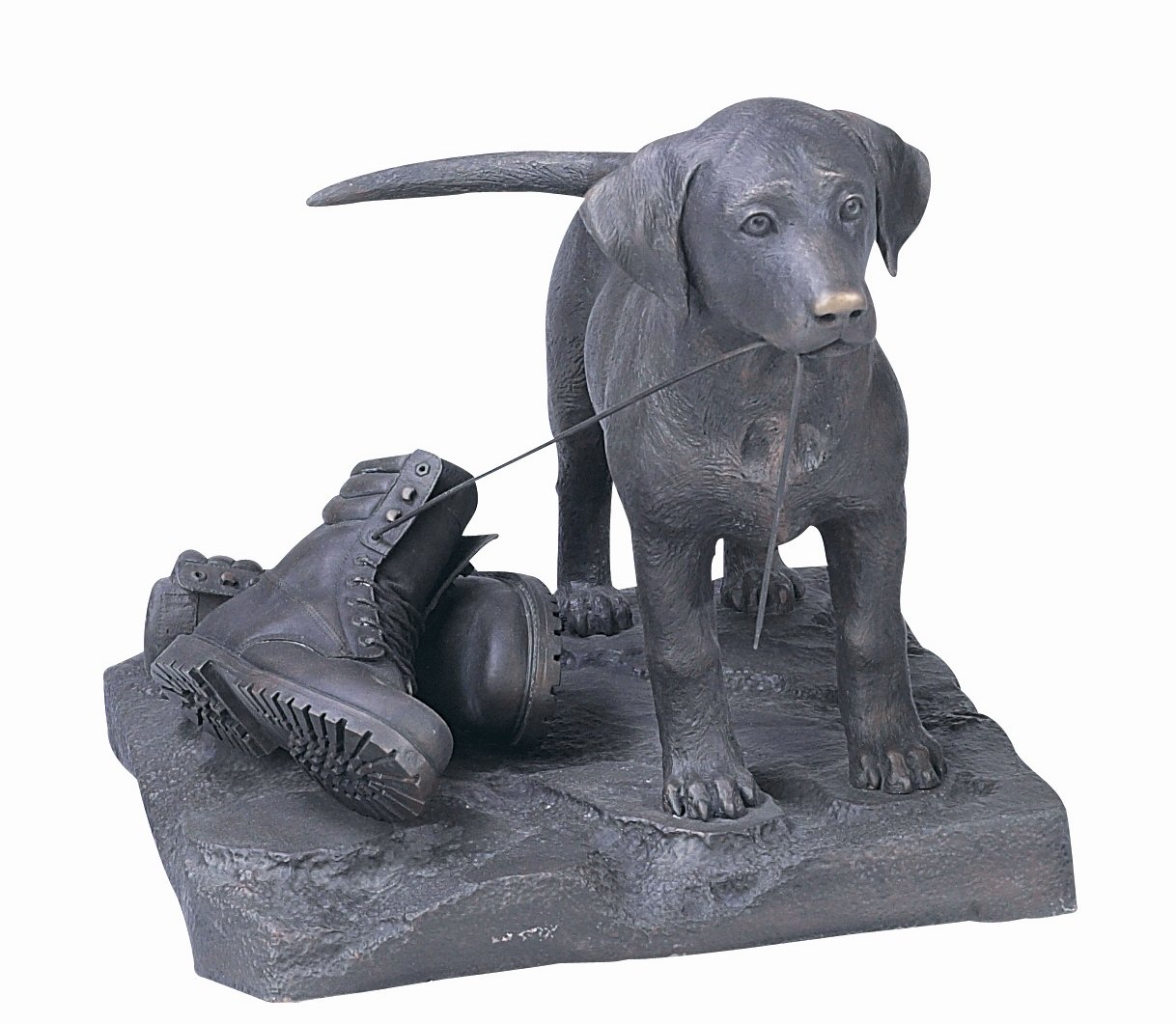 World of American Home Decor Warehouse RGA0491 Labrador 'Lab' Puppy Limited Edition Bronze Dog Statue, 28/23/23-Inch
