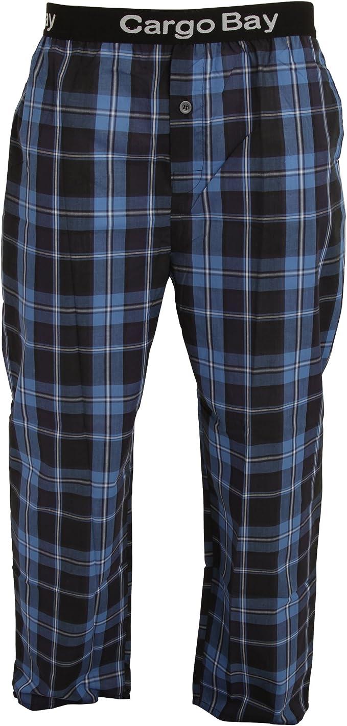 Cargo Bay - Pantalones de Pijama a Cuadros para Hombre (Mediana (M)) (Cuadros Azules): Amazon.es: Ropa y accesorios