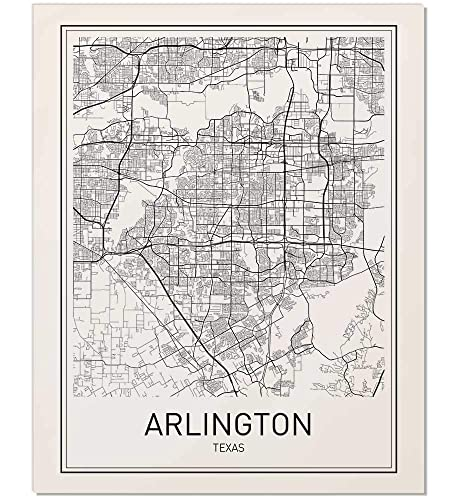 Map Of Arlington Texas.Amazon Com Arlington Poster Arlington Map Map Of Arlington City