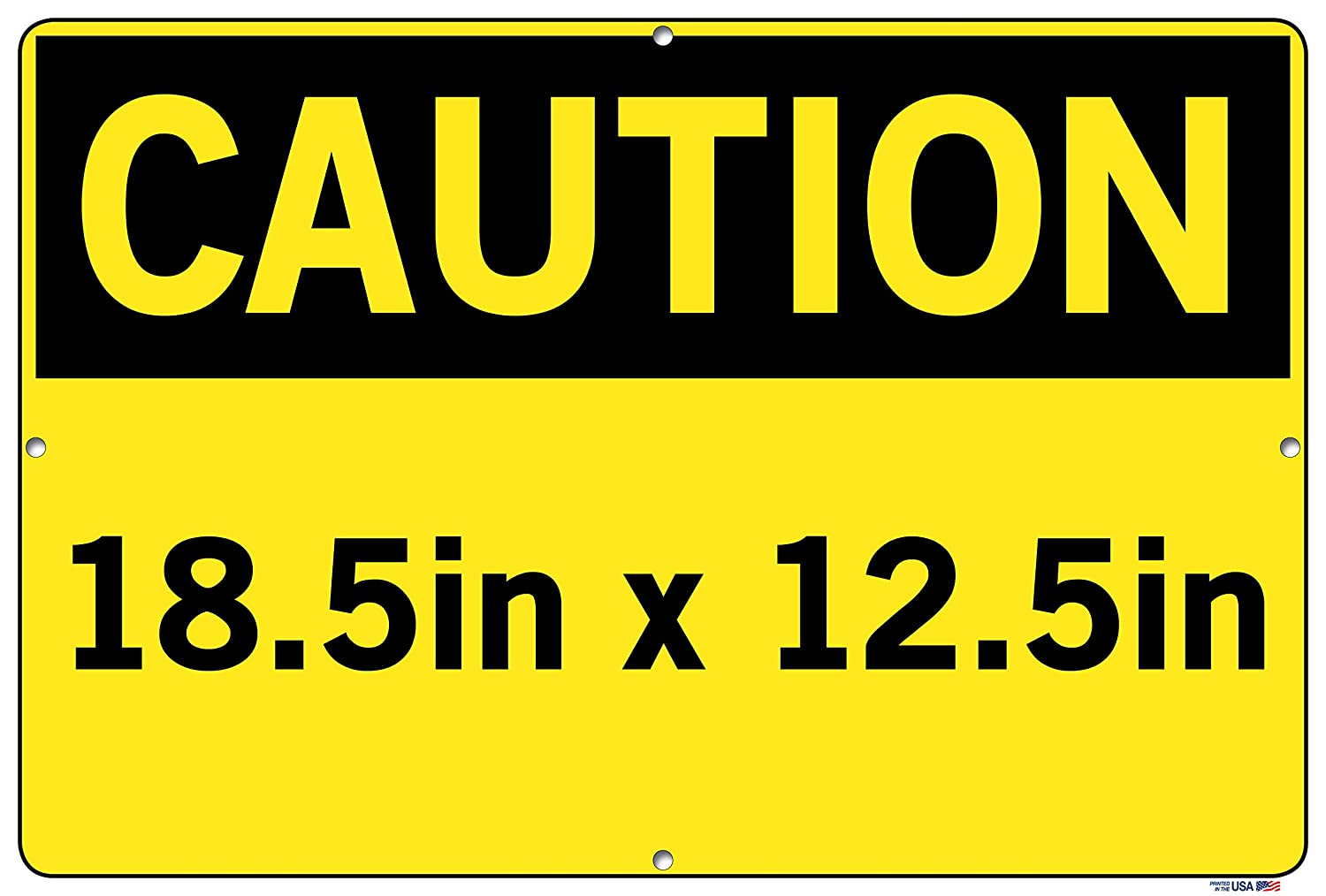 NO Puede ENTRAR Vestil Caution Sign SI-C-61-E-PS-040-S Polystyrene .040 Overall Size 20.5W x 14.5H DO NOT Enter