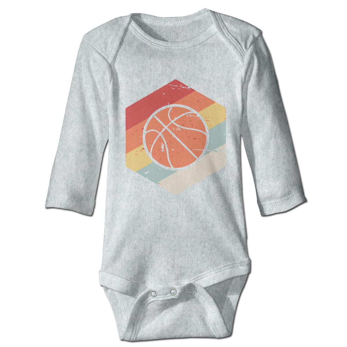 Baby Infant Toddler Romper Bodysuit Infant Retro 70s Basketball Icon Long Sleeve Funny Baby Clothes