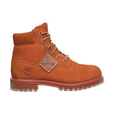 7ac8adb7ddff Timberland 6 Inch TPU Outsole Waterproof Suede Premium Big Kid s Boots Rust  tb0a1bks (5 M