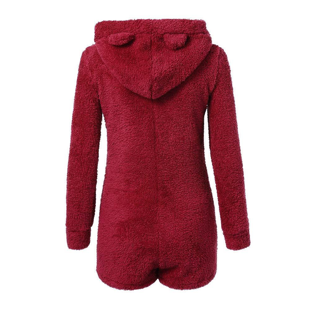 129fd4f71e8f Amazon.com  Zainafacai Cute Rompers-Adult Ladies Girls Pajamas Sportswear  Hooded Jumpsuit 2018  Clothing