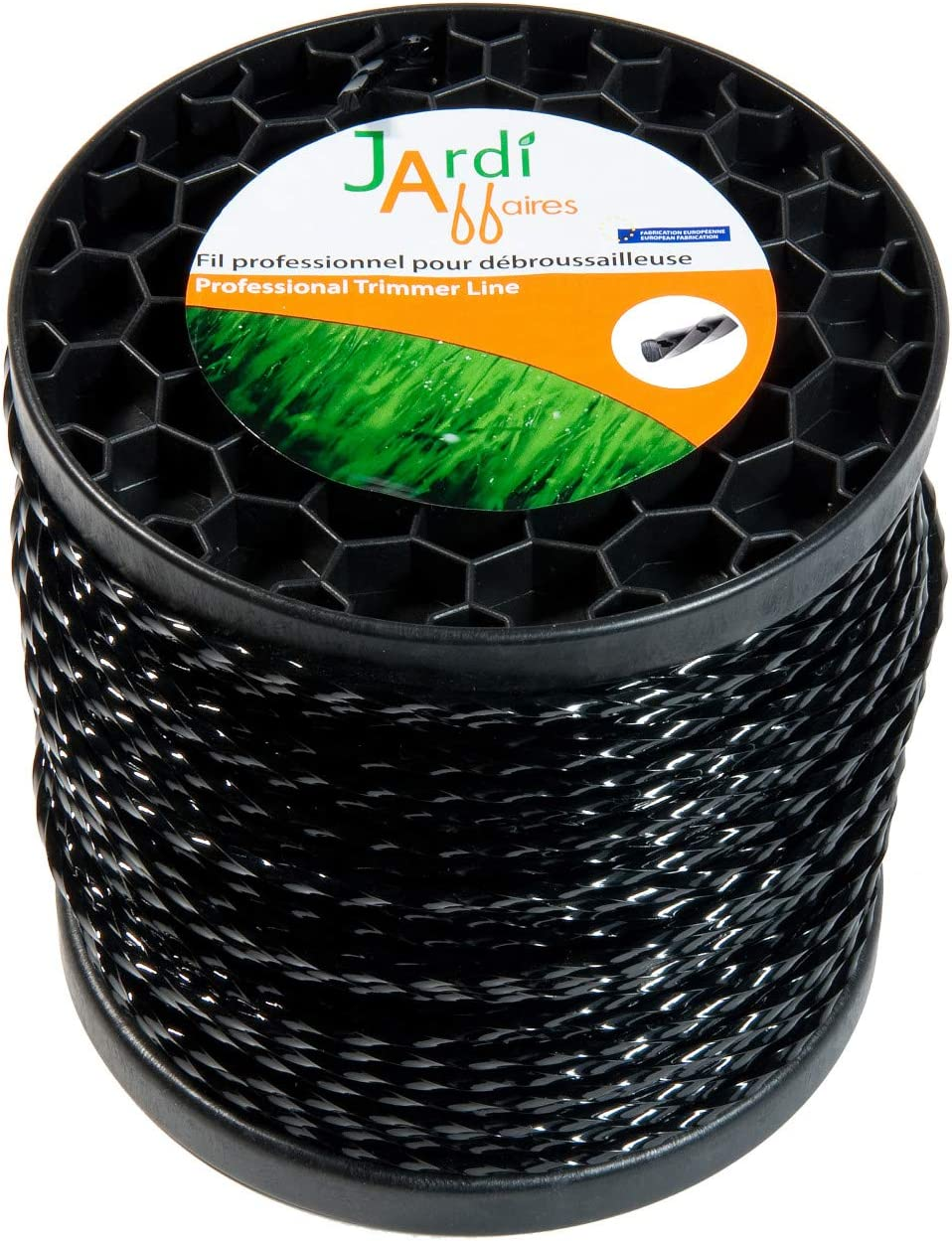 Bobina de hilo trenzado profesional para desbrozadora, 4,4mm x 77 metros: Amazon.es: Jardín
