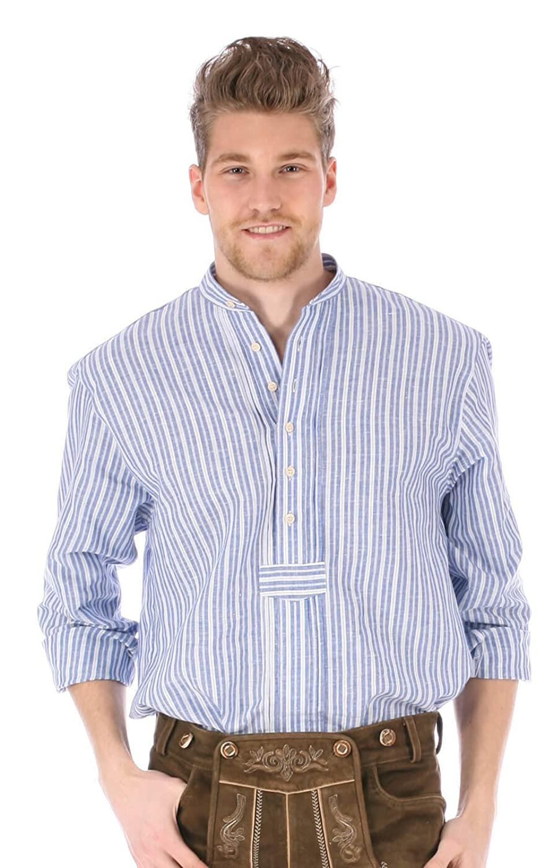 Trachtenhemd Diomo blau