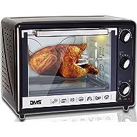 DMS® 63l Mini four avec tournebroche Four Four à pizza, four à chaleur tournante avec éclairage, timer 2200W herausnehmbares krümel Blech OCR-63d