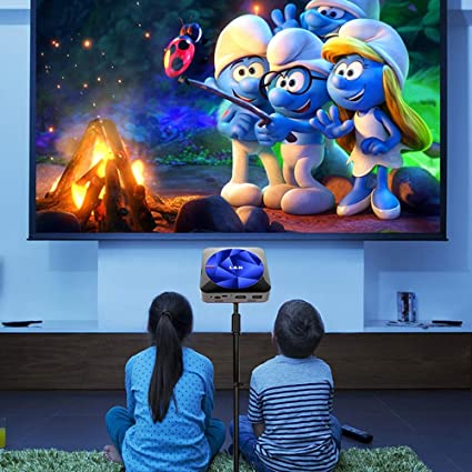 TOL MY Mini proyector móvil, proyector Mini Smart Home Conference portátil al Aire Libre Mini Android 1080P proyector 16G-DLP Tecnología óptica: Amazon.es: Hogar