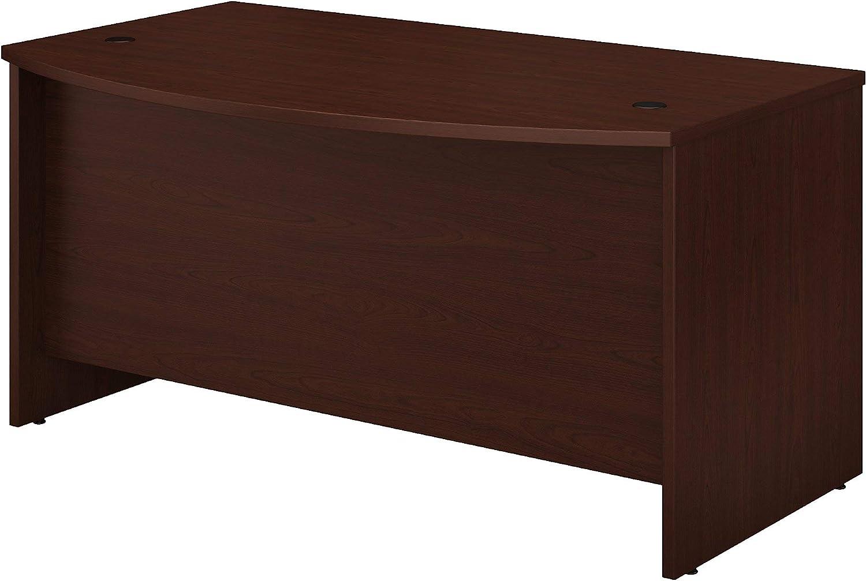 Bush Business Furniture Studio C Bow Front Desk, 60W x 36D, Harvest Cherry