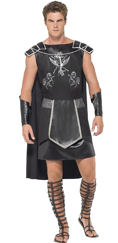 Halloweenia - Dunkles Gladiator Kostüm für Herren, M, Mehrfarbig