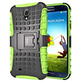 Coque Galaxy S4,iDoer Armor Support Protection Étui Samsung Galaxy S4 Case Housse Etui Bumper Antichoc Cas Incassable Coque pour Galaxy S4 - vert