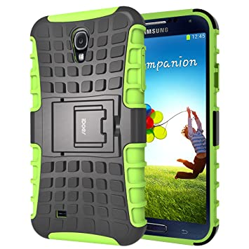 S4 Funda,iDoer Galaxy S4 Case Carcasa Cases caso armor doble capa híbrida con soporte Cáscara de Cubierta de Silicona Protectora para Samsung Galaxy ...