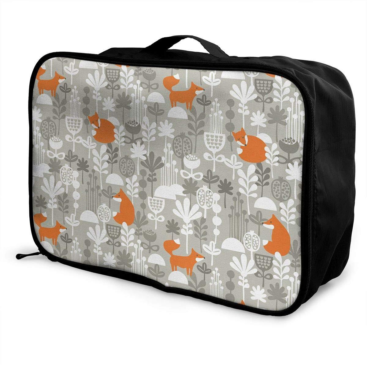 ADGAI Small Animals of The European Canvas Travel Weekender Bag,Fashion Custom Lightweight Large Capacity Portable Luggage Bag,Suitcase Trolley Bag