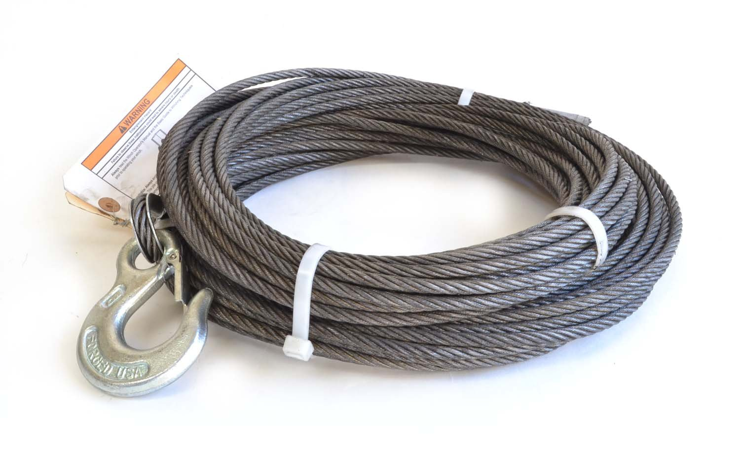 1//4 x 100 1//4 x 100/' WARN 24893 Wire Rope Assembly