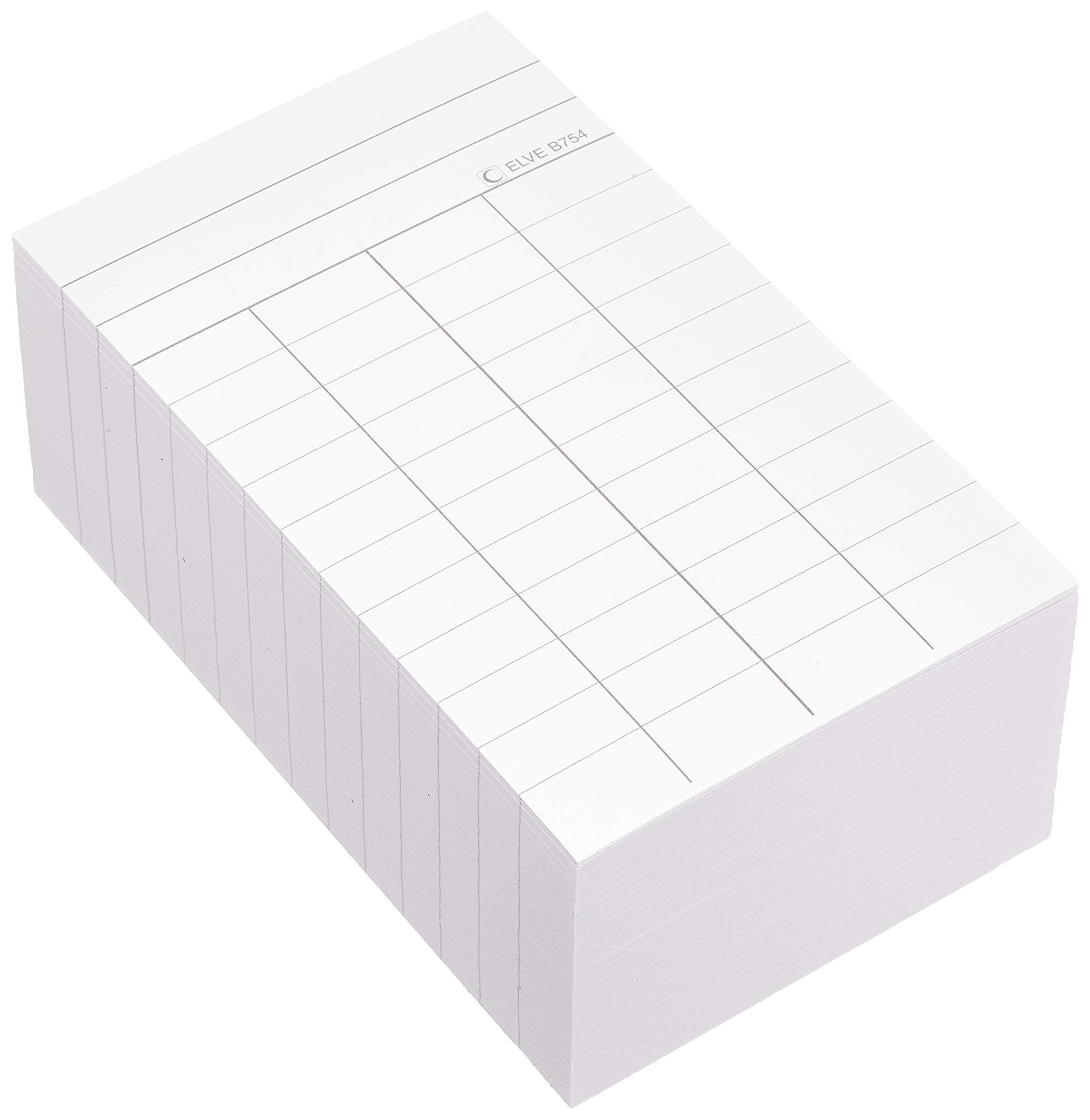 Elve 97539Plug Library 4Columns White 75x125mm 1000Pieces