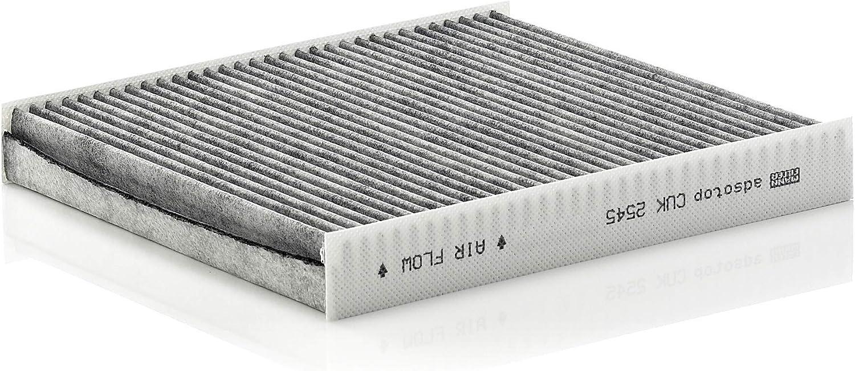 MANN-FILTER CUK 2545 Habitáculo, Filtro antipolen con carbón Activo, para automóviles