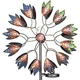 Primrose Wind Spinner Selwood with Solar Crackle Globe Diameter 46.5cm