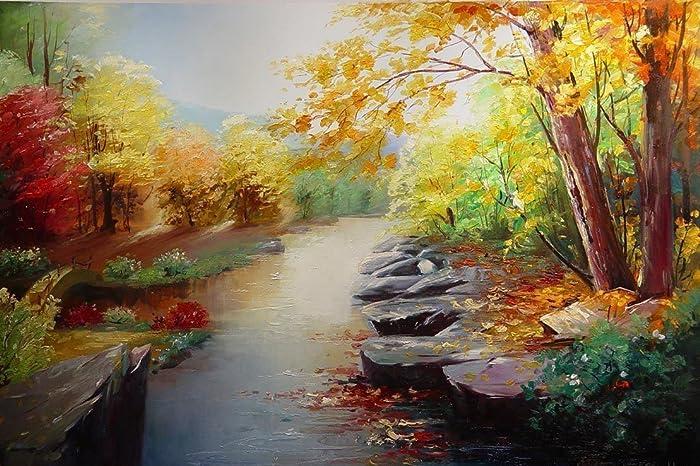 Jungle Creek Oil Painting Hand Painted Original Landscape Painting Artwork For Home Decor