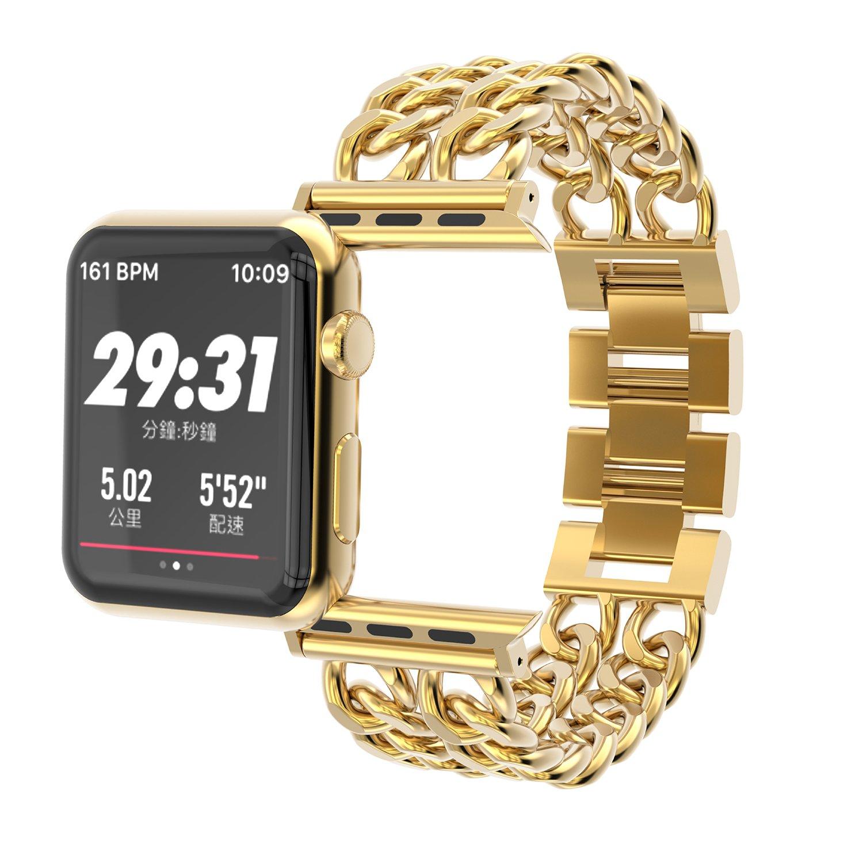 For Apple Watchバンド、Jansinプレミアムステンレススチールカウボーイスタイルブレスレット時計バンドストラップfor Apple Watchシリーズ1、2シリーズ、シリーズ3,38 MM 42 MM ブラック|42mm ブラック B075S2ZCD2