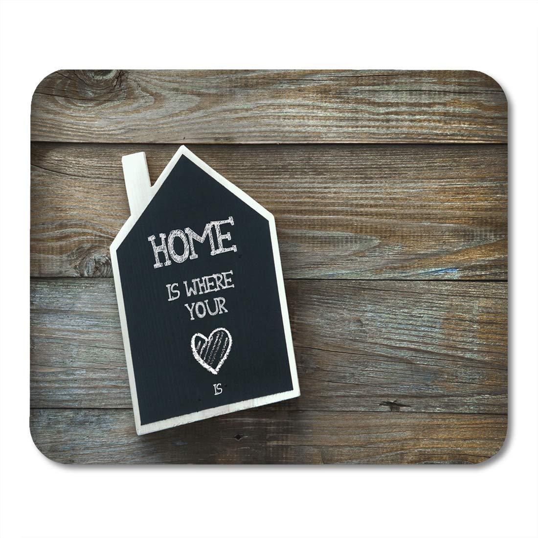 Luancrop Mouse Pads Heart House en Forma de Cartel de ...