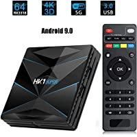 MeterMall Smart TV Box Android 9.0 RK3318 Quad Core 2.4G/5G Dual WiFi USB3.0 BT4.0 4K H.265 UHD Reproductor Multimedia, 4+64G
