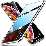 ESR Cover per iPhone XS Max,Custodia Protettiva in Vetro Temperato 9H [Asseconda Il Vetro Retrostante][AntiGraffio] + Cornice Paraurti in Silicone Morbido [Antiurti] per iPhone XS Max (Trasparente)