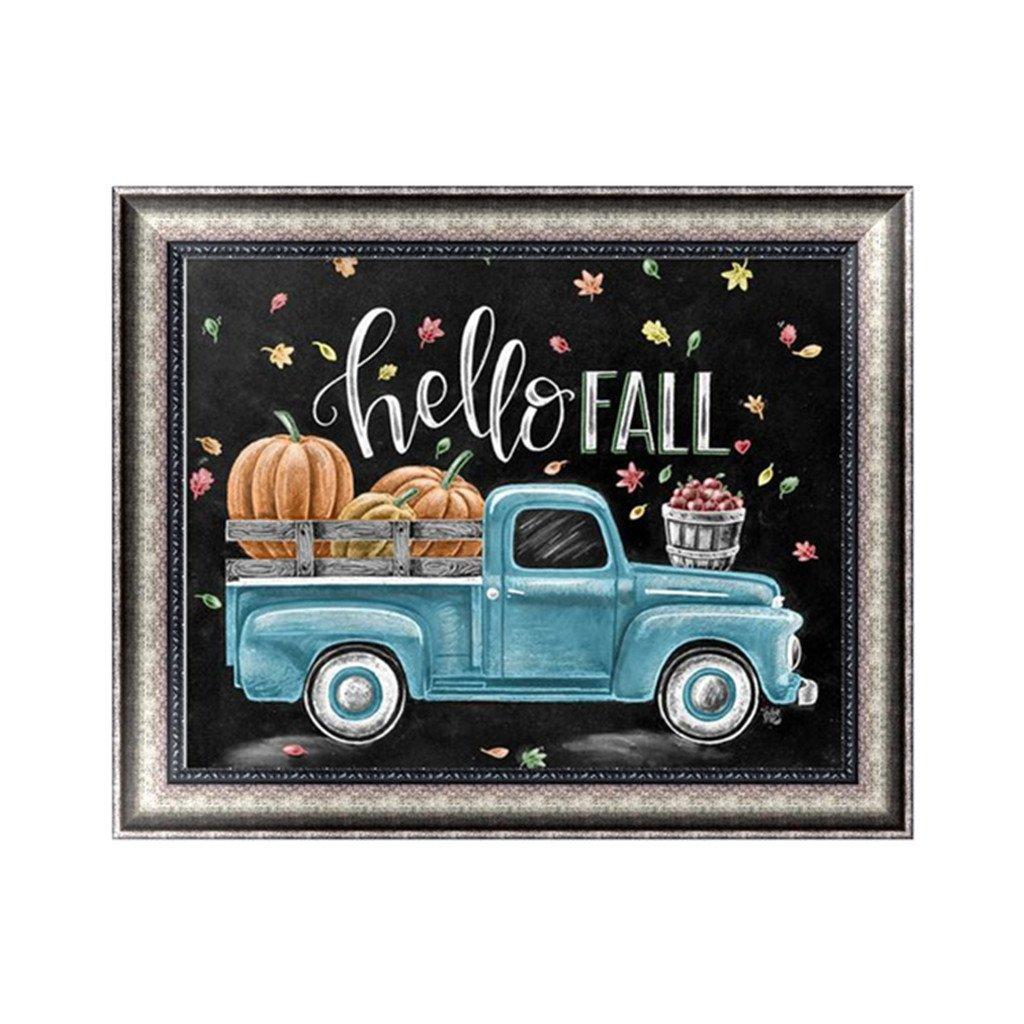 LANDUM DIY 5D Diamond Painting Embroidery Cross Stitch Craft Home Decor Hello Fall & Blue Car