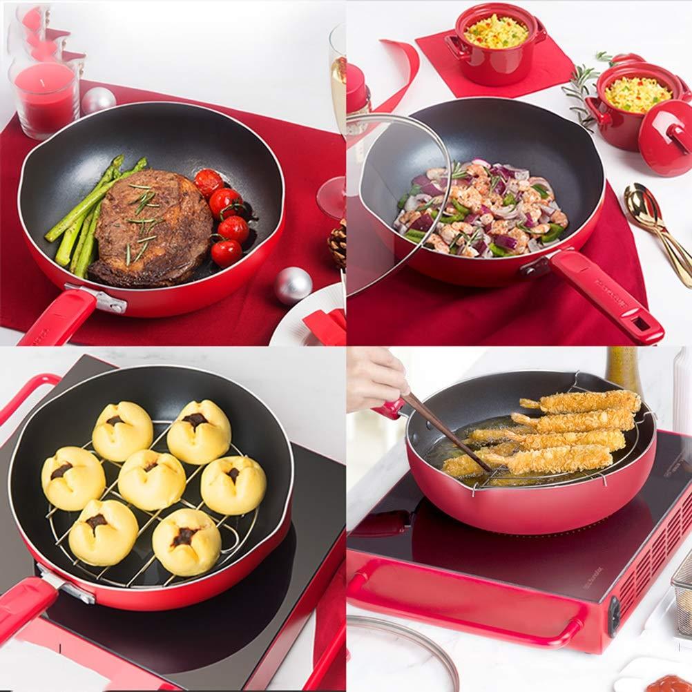WYQSZ Wok - Non-stick cooker non-stick wok flat bottom non-stick wok kitchen cooking multi-function wok -fry pan 2365 (Capacity : B) by WYQSZ (Image #4)